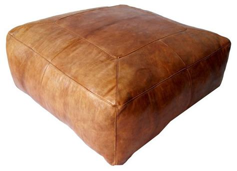square leather pouf ottoman sold out large moroccan square leather ottoman 4 800