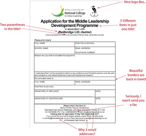 school application form design design bild