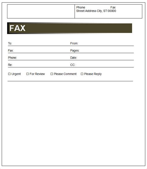 cover sheet template   word documents