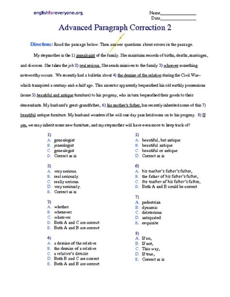 worksheet paragraph editing worksheets hunterhq free