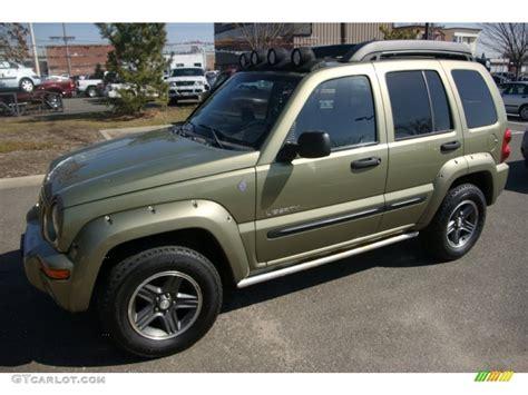dark green jeep liberty 2004 cactus green pearl jeep liberty renegade 4x4
