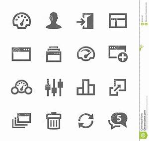 Dashboard Icons Set. Royalty Free Stock Photography ...