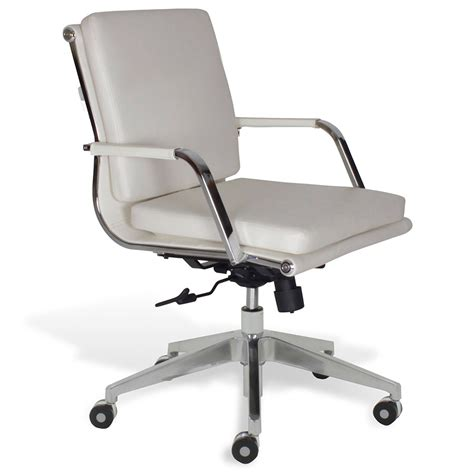 low back desk chair jesper greta wht low back office chair collectic home