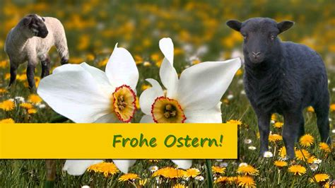 frohe ostern ostergruesse fuer kinder familie mit
