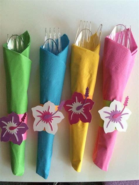 colored napkins luau napkins to bright colored napkins and wrapped