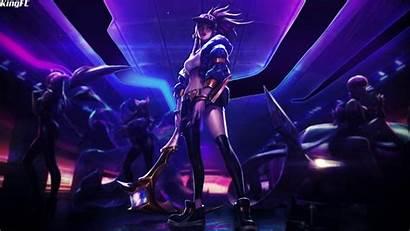 Akali Da Background Neon Engine Animated