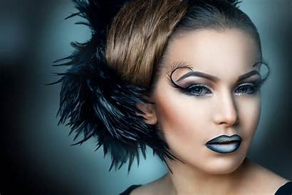 Hair Background Eyelash Wallpapers Brunette Feathers Makeup