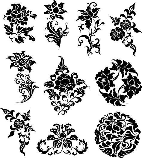flowers ornaments illustration ai vector file