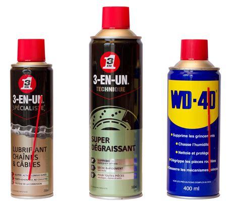 test 3 en 1 d 233 graissant lubrifiant cha 238 nes et c 226 bles et wd 40 matos v 233 lo actualit 233 s