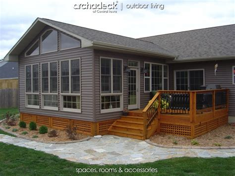 home add on ideas 4 season room addition exterior des moines boone archadeck outdoor living of central iowa