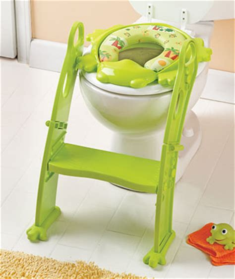Green Frog Potty Chair by Karibu Adjustable Potty Seat With Step Ladder Green Or