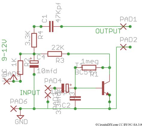 Simple Preamplifier For Microphones Tape Heads Etc