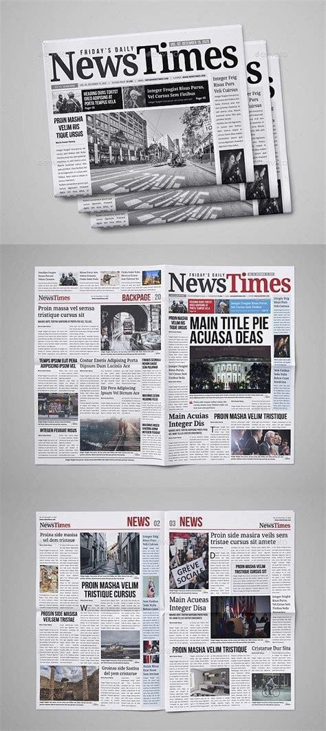 indesign newspaper template  professional indesign