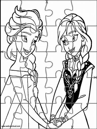 Frozen Puzzles Puzzle Printable Cut Jigsaw Coloring
