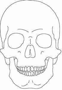 Skull Outline Only By Vicious Traceable Pictures