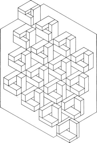 optical illusion  coloring page  printable