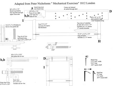 woodwork joiners workbench plans  plans
