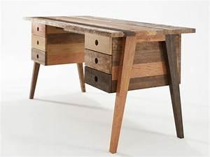Meuble Tiroir Bureau : bureau bois design 50 belles propositions ~ Teatrodelosmanantiales.com Idées de Décoration