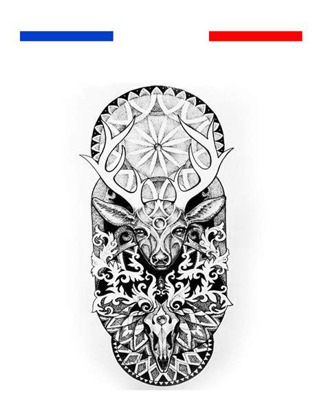 tatouage cerf mandala geometrique mon petit tatouage