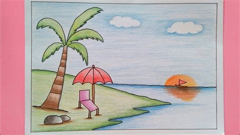 contoh gambar panduan mewarnai dengan pensil warna