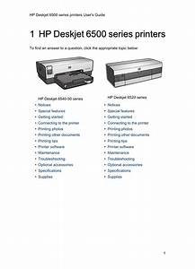 Hp Deskjet 6540 Color Inkjet Printer User Manual