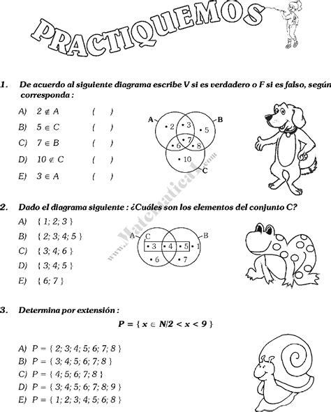 Ejercicios con teoría de conjuntos Matemáticas