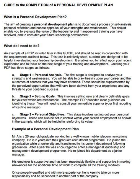 personal leadership development plan templates