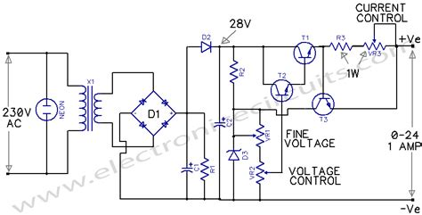 Variable Power Supply Circuit Diagram World