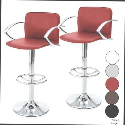 chaise de cuisine en cuir blanc tabouret haut de cuisine tabouret de bar industriel la