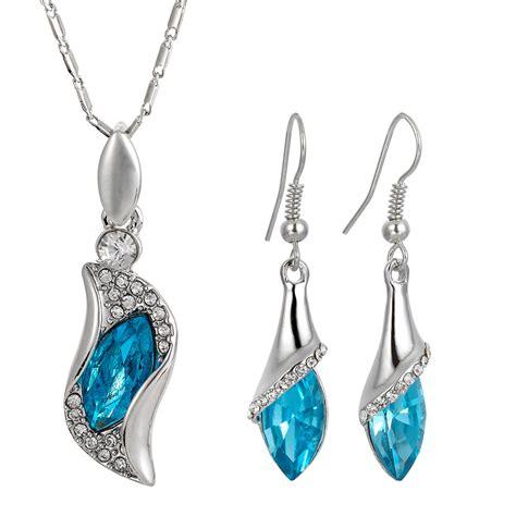 swarovski elements 18k gp drop earrings pendant