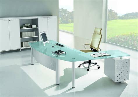 mobilier bureau direction bureau direction en verre blanc ou couleur mobilier de