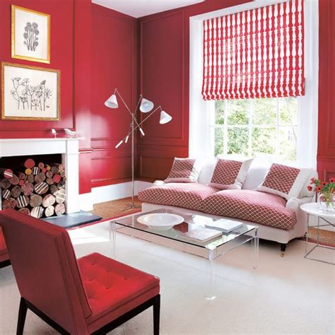 warm red living room cosy living room design ideas