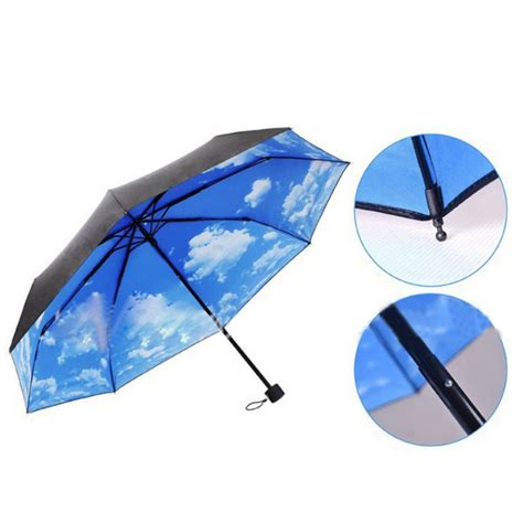 new the anti uv sun protection umbrella blue sky 3