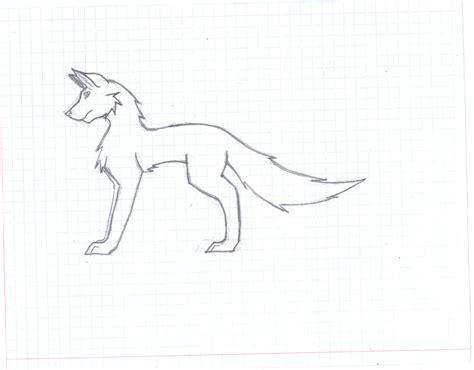cool wolf drawings easy
