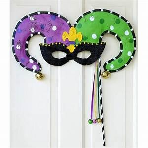 mardi gras jester mask door hanger screenings image With jester mask template