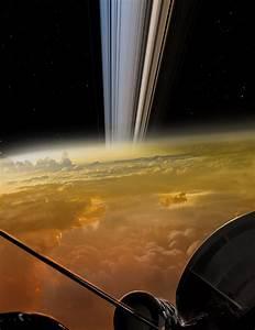 The Cassini spacecraft's dive in between Saturn's rings ...