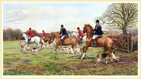 Leading The Field  Horses And Hounds Picture