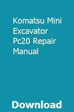 komatsu mini excavator pc repair manual repair manuals mini excavator volkswagen