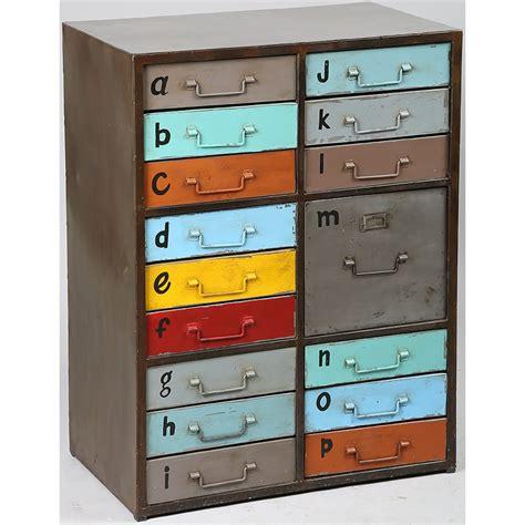 meuble appoint cuisine meuble de rangement à tiroirs métal peint collection hometag