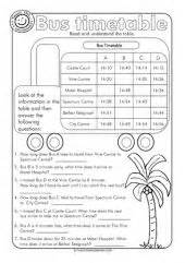 maths timetable worksheets year 4 time and