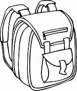 Backpack Cliparts Clipart Coloring sketch template