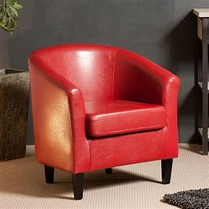 Fauteuil Cuir Rouge : good fauteuil en cuir rouge 11 category homeezy ~ Teatrodelosmanantiales.com Idées de Décoration