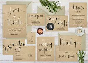 best collection of kraft paper wedding invitations With wedding invitation paper options