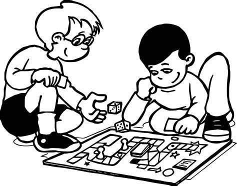 Board Game Coloring Pages