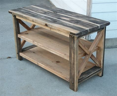 ana white moms rustic  console diy projects