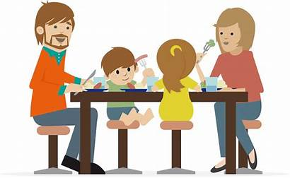 Cartoon Dinner Kid Parents Parent Parenting Table