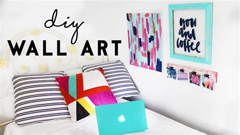 diy wall art budget room decor  dorm rooms youtube