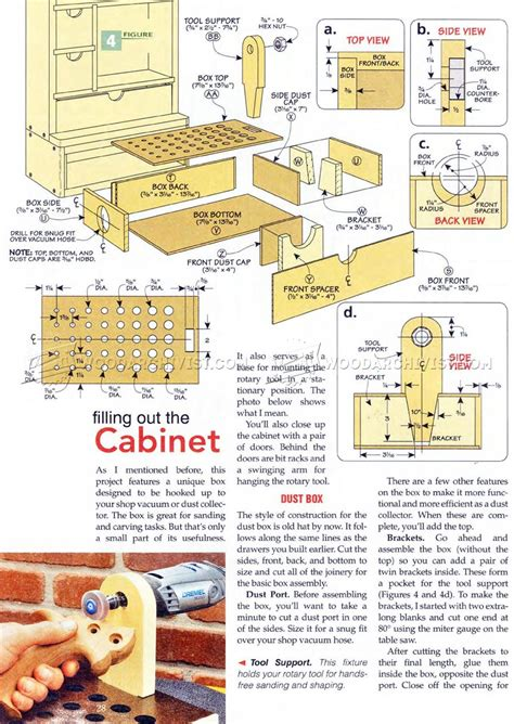 rotary tool cabinet plans woodarchivist