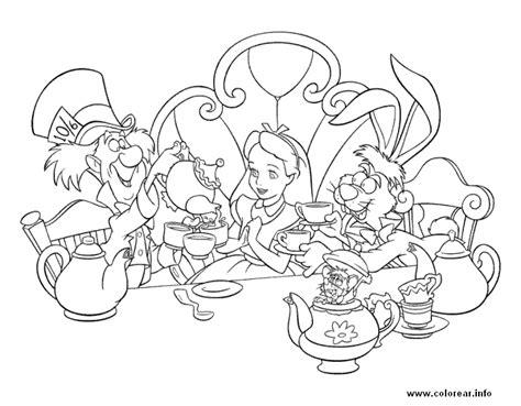 Alice In Wonderland Color Pages - Sanfranciscolife