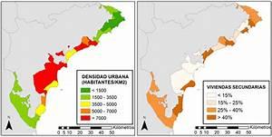 Distribución municipal de la densidad urbana y el ...
